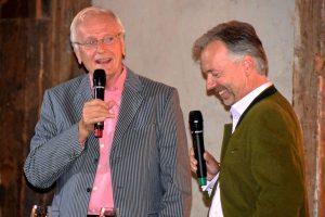 Fröhliche Gespräche: Prinz Ratibor (rechts) mit Moderator Wolfgang Milde