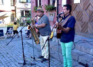 Acoustic Swing beim Markgröninger Marktplatzabend im Juli 2017
