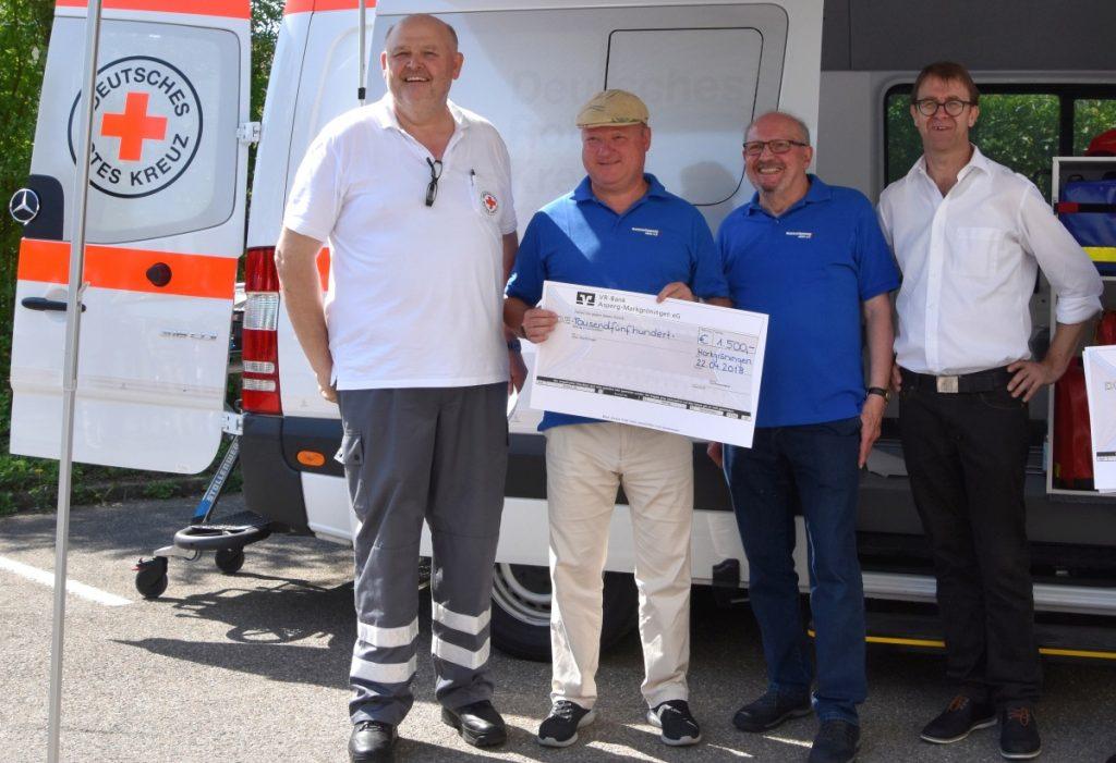 Markgröningen aktiv und die Vereinsgaststätte Enzwiesen spenden 1.500 Euro an das DRK Markgröningen