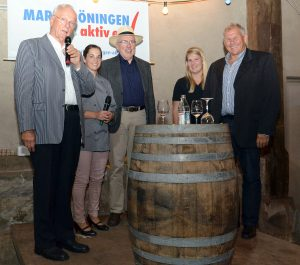 Markgröninger Kelter-Talk 2018: Wolfgang Milde, Verena Hoffmann, Traugott Plieninger, Andrea Ritz und Hartmut Semsch (v.l.n.r.) | Foto: Markgröningen aktiv