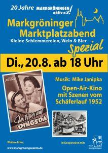 """Marktplatzabend """"spezial"""" zum Jubiläum des Vereins Markgröningen aktiv"""