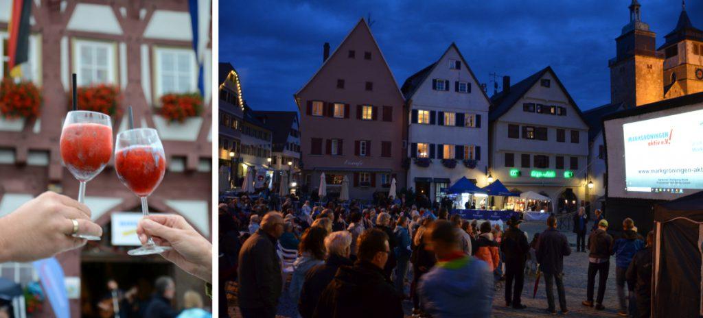 Open Air Kino zum 20. Jubiläum des Vereins Markgröningen aktiv   Foto: Markgröningen aktiv