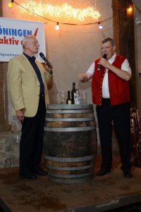 Wolfgang Milde und Georg ter Voert beim Markgröninger Kelter-Talk am 13. September 2019 | Foto: Markgröningen aktiv